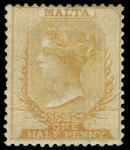 MALTA SG10, ½ yellow-buff, M MINT. Cat £85.