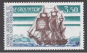 French Southern & Antarctic Territory, #136 MNH single, 18th cent. ship