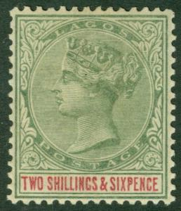 EDW1949SELL : LAGOS 1887 Scott #38 Very Fine, Mint OG. Fresh & Choice. Cat $120.