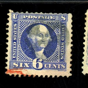 U.S. #115 USED FINE PART RED CANCEL Cat $275