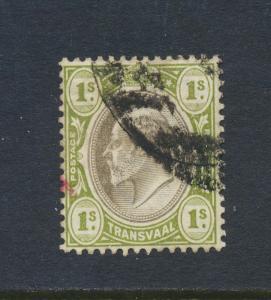 TRANSVAAL 1902, 1sh VF USED, SG#251 (SEE BELOW)