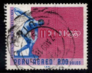 Peru Scott C230 Used Olympic airmail stamp 1968