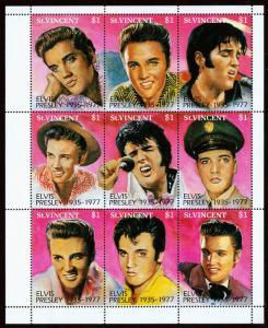 St. Vincent Scott 1729 (1992) Elvis Presley, Mint NH VF C