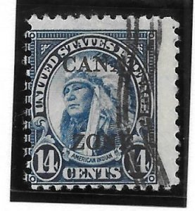Canal Zone Scott #116 Used 14c Perf 11X10 1/2 O/P 2018 CV $3.50