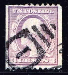US STAMP #489 – 1917 3c Washington, violet, type I USED