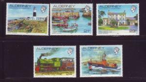 Alderney Sc 42-6 1989-93 views stamp set mint NH