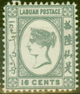 Labuan 1892 16c Grey SG46 Fine Mtd Mint (6)