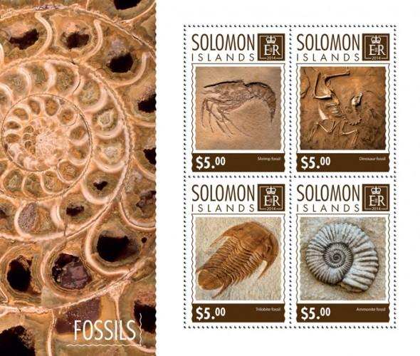 SOLOMON ISLANDS 2014 SHEET FOSSILS slm14714a