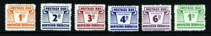 NORTHERN RHODESIA QE II 1963 Complete Postage Dues Set SG D5 to SG D10 MINT