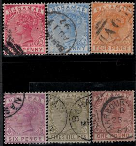 Bahamas 1884-1890 SC 27-32 Used Set SVC 426.00
