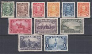 Canada Sc 217-227 MNH./MLH. 1935 KGV definitives cplt, F-VF