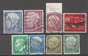 COLLECTION LOT # 4464 GERMANY 8 STAMPS 1954+ CV+$22