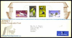 Jersey Sc# 49-52 FDC Air Mail 1971 Wildlife Preservation