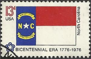 # 1644 USED STATE FLAG NORTH CAROLINA