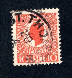 Danish West Indies #32,  F/VF,  Used,   CV $3.25 ....1630028