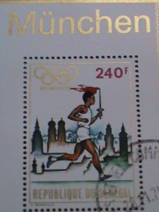 SENEGAL STAMP: 1972  OLYMPIC GAMES-MUNICH'72   CTO MNH S/S SHEET- VERY RARE