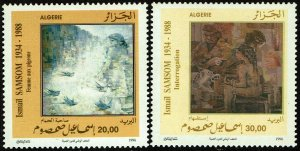 Algeria #1085-86  MNH - Paintings by Ismail Samsom (1996)