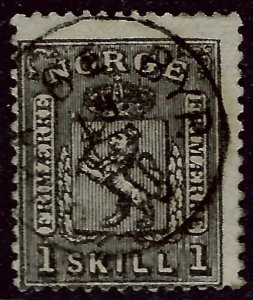 Norway 1868 Sc #11 Used Fine Cat $70...Great Value!