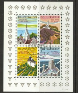 Switzerland, 1987 Tourism Souvenir Sheet, used, no faults