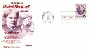 US 1399 Elizabeth Blackwell Fleetwood U/A FDC
