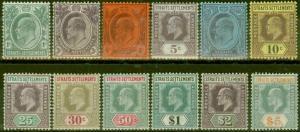 Straits Settlements 1904-10 set of 12 SG127-138a Fine Lightly Mtd Mint