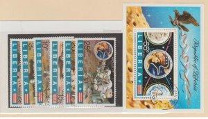 Liberia Scott #623-628//C196 Stamp - Used Set