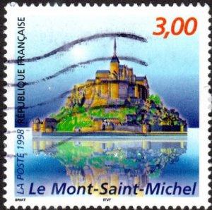 France 2663 - Used - 3fr Mont-Saint-Michel (1998) (cv $0.85)