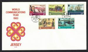 Jersey Horses Coach Ship World Communications Year FDC SG#314-318
