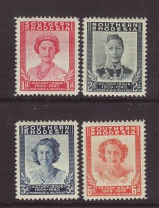 1947 Southern Rhodesia Victory Set Mounted Mint SG64/67