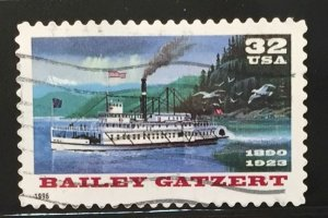 US #3095 Used F/VF - Bailey Gatzert Steamboat 32c