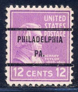 Philadelphia PA, 817-71 Bureau Precancel, 12¢ Taylor