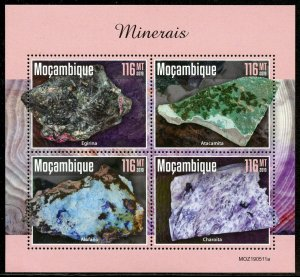MOZAMBIQUE 2019 MINERALS SHEET MINT NEVER HINGED
