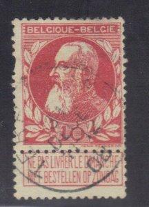 BELGIUM SC# 85 **USED** 10c  1905-11    SEE SCAN