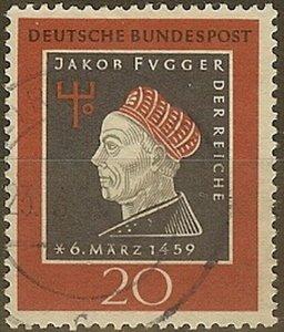 Stamp Germany Sc 0798 1959 Bundespost Jakob Fugger Banker Businessman Birth Used