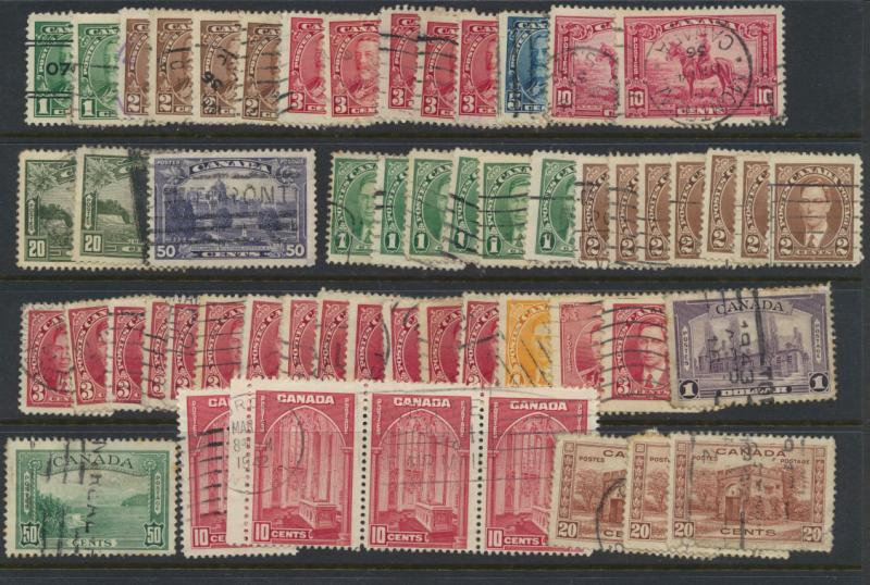 Canada selection x 50  - SG 341 range through to 367  mixed condition see scan