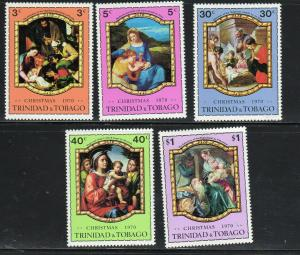 TRINIDAD & TOBAGO #191-195  1970  CHRISTMAS  MINT VF NH O.G
