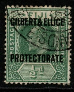 GILBERT & ELLICE IS. SG1 1911 ½d GREEN FINE USED