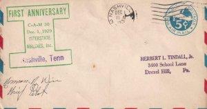 1929, 1st Anniv., CAM-30, Interstate Airways, Nashville, TN, See Remark (41337)