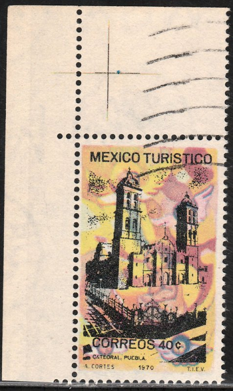MEXICO 1011, TOURISM PROMOTION, PUEBLA CATHEDRAL. USED. VF. (1247)