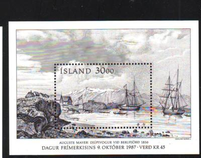 Iceland Sc  646 1987 Stamp Day stamp sheet mint NH