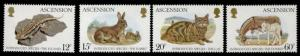 Ascension Island 336-9 MNH Introduced Animals, Cat, Donkey, Rabbit, Iizard