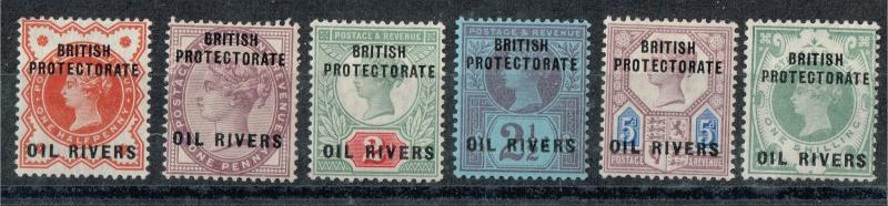 Niger Coast Protectorate (Oil Rivers Protectorate) SC# 1-6 VF LH