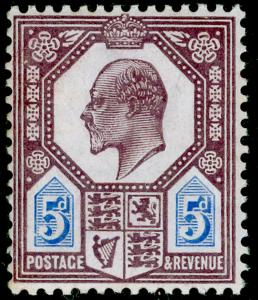 SG244 SPEC M29(2), 5d slate purple & ultramarine (CHALKY), NH MINT. Cat £100.