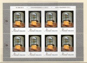 Aland Finland Sc 342 2013 Window &  Furniture stamp sheet mint NH
