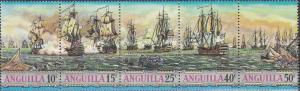 Anguilla, Sc # 127-131 (2), MNH, 1971, Ships