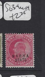 INDIA NABHA   (PP0807B)  KE  1A  SG 39   MOG