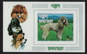 Bhutan Poodle Dog MS imperf MI#Block 56B