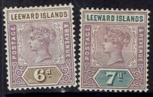 LEEWARD ISLANDS 1890 QV 6D AND 7D