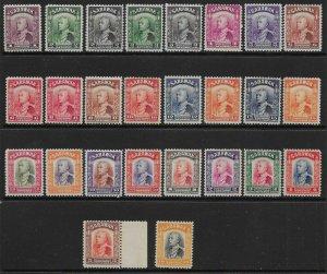 SARAWAK SG106/25 1934-41 DEFINITIVE SET MTD MINT