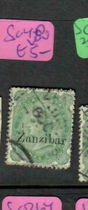 ZANZIBAR (PP1005B)  QV ON INDIA  2A 6P  SG 8D    CDS  VFU